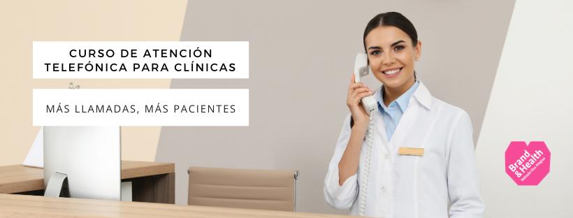 curso de atención telefónica para clínicas