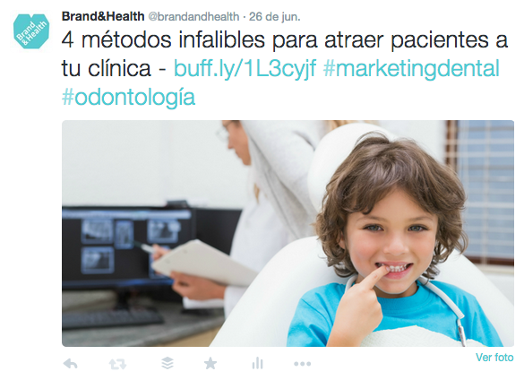 Twitter para clínicas dentales-Ejemplo 3