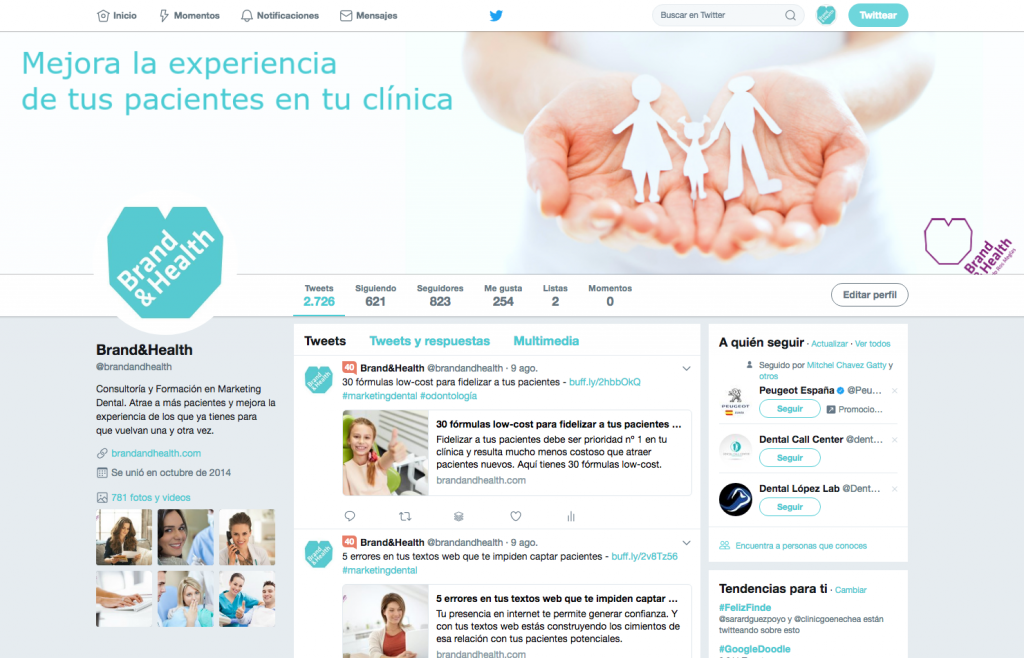B&H_Twitter para odontólogos y clínicas dentales